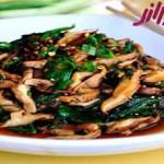 طرز تهیه خوراک اسفناج و قارچ چینی
