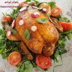 نمونه هایی از تزیین مرغ شکم پر