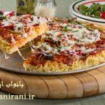 طرز تهیه پیتزا نودل بدون استفاده از فر