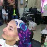 پیر زنی که با لباس عروس راهی خیابانها شد جنجال ساز شد