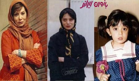 تصاویر نگار فروزنده از کودکی تا به حال